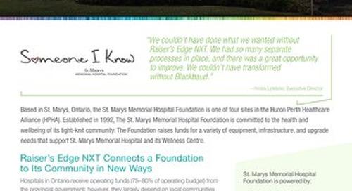 Customer Spotlight: St. Marys Memorial Hospital Foundation