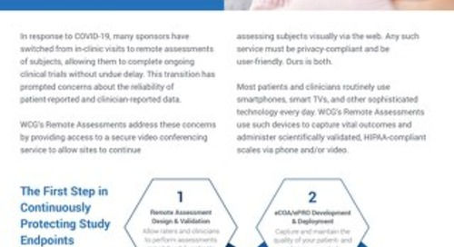 WCG Remote Assessments