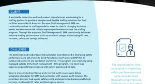 [Manufacturing] Onsite Management Program Increases Safety and Efficiency for Janitorial and Sanitation Services Case Study