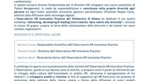 Attracting, developing & leading (new) talents: dare valore alla diversità