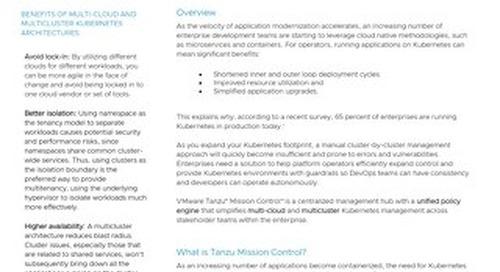 Tanzu Mission Control Solution Brief