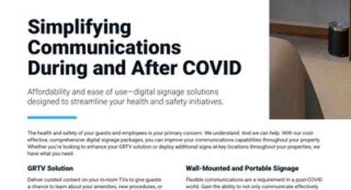 Improve Your Hotel's Communications Capabilities During and After COVID