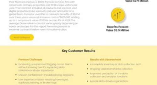 The ROI of ObservePoint: A Forrester Total Economic Impact™ Study