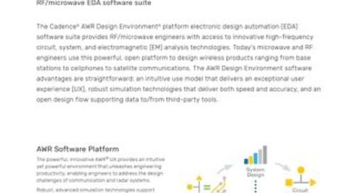 AWR Design Environment