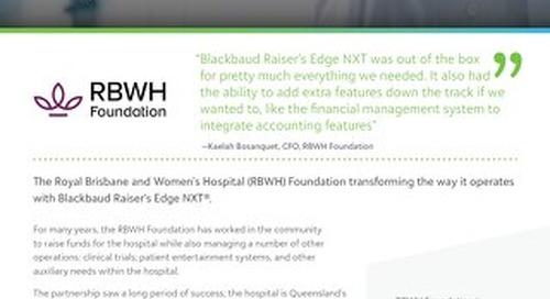 Customer Spotlight: RBWH Foundation