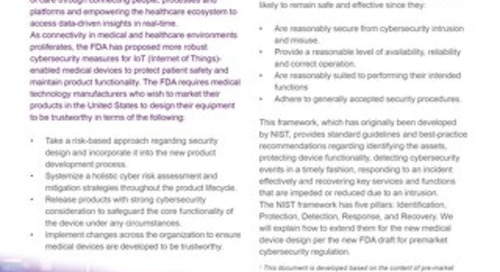 Datasheet: ABC of the FDA Pre-Market Medical Device Cybersecurity Guideline