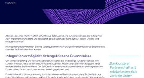 Schaffen Sie ein vernetztes Kundenerlebnis:  Adobe Experience Platform powered by webMethods.io