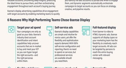 6sense Display Advertising One Pager
