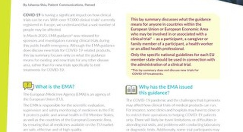 COVID-19 Lay Summary EMA Management of Clinical Trials