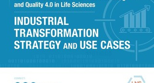 At the Intersection of Smart Manufacturing and Quality 4.0 in Life Sciences (an LNS e-book)