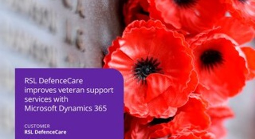 RSL DefenceCare improves veteran support services with Dynamics 365