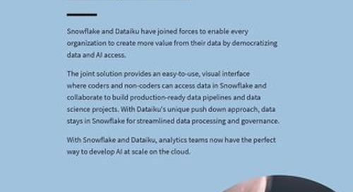 Snowflake & Dataiku: Engage Your Team and Your Data With Enterprise AI