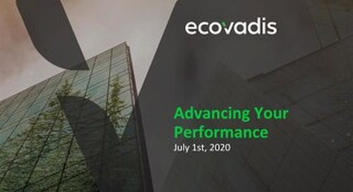 [Slides] EcoVadis CAP Training