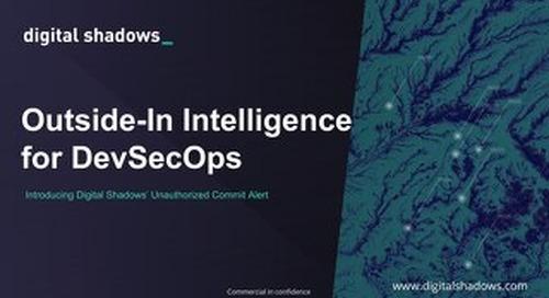 Outside-In intelligence for DevSecOps - Webinar Slides