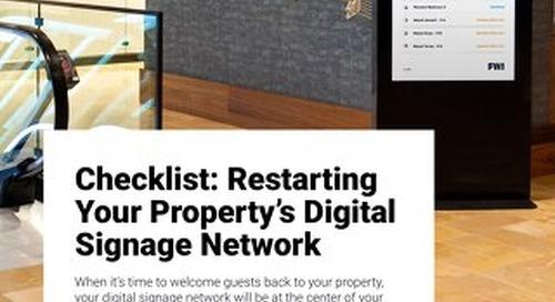 Tips For Restarting Your Property's Digital Signage Network