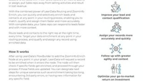ZoomInfo Integration Data Sheet