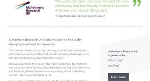 Alzheimer's Research UK   Raiser's Edge NXT & JustGiving