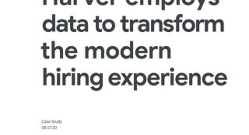 Harver employs data to transform the modern hiring experience