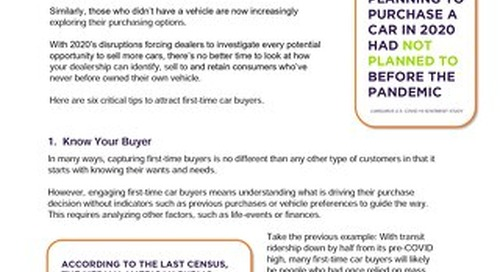 6 Tips to Attract First-Time Car Buyers