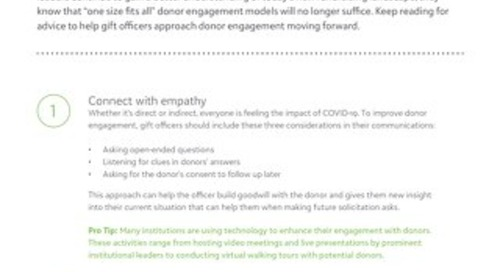 Tip Sheet: 3 Tips to Improve Fundraisers' Approach to Donor Engagement