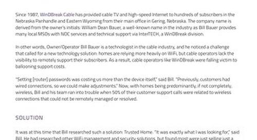 Case study: WinDBreak Cable