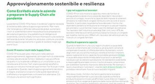 Approvvigionamento sostenibile e resilienza