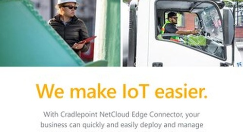 Cradlepoint NetCloud IoT Customer Leave Behind