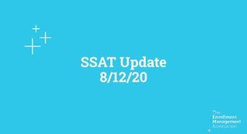 SSAT Update Webinar: August 12, 2020