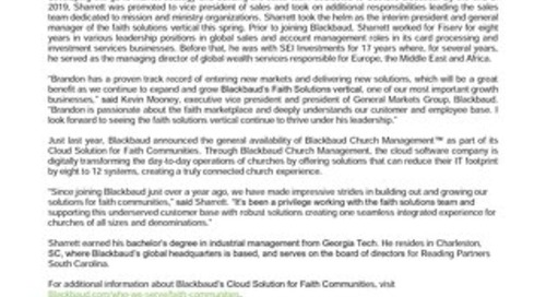 08.07.20 Brandon Sharrett Appointed to Lead Blackbaud Faith Solutions_FINAL