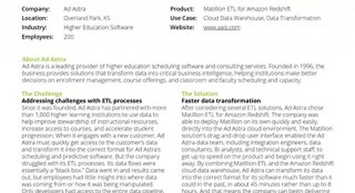 Ad Astra creates an insights-driven culture, using Matillion ETL to provide transparency and access to data