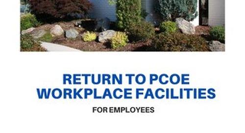 PCOE Employee Return to Workplace
