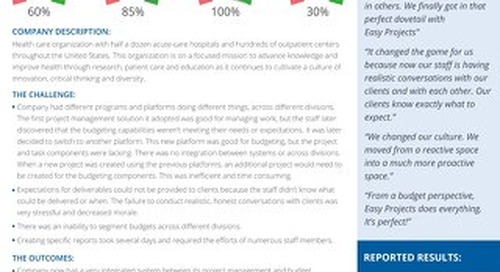 Healthcare Leader Increases Productivity by 60%
