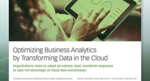 Optimizing Business Analytics by Transforming Data in the Cloud