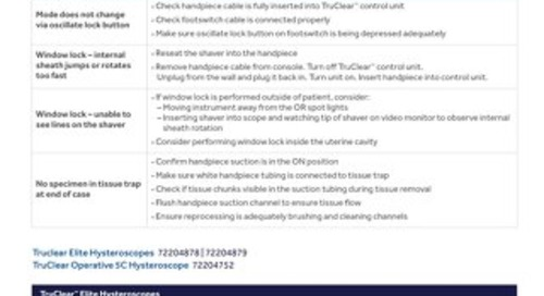 Troubleshooting Guide: TruClear™ System