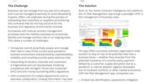The ICM Risk Management App