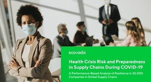 Crise sanitaire et niveau de préparation des chaînes d'approvisionnement -COVID-19
