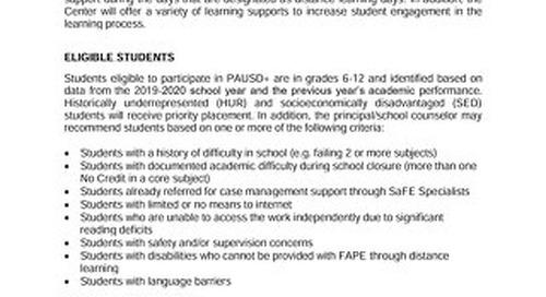PAUSD+ Student Support Center