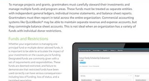 Why Fund Accounting is Different for Grantmakers