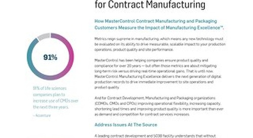 Metrics That Matter for Contract Manufacturing