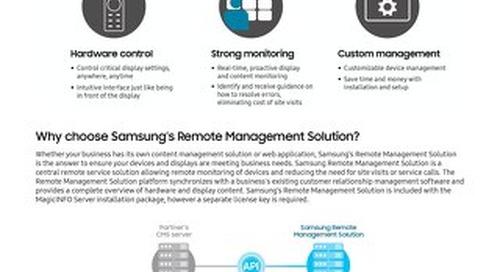Samsung Remote Management Solution