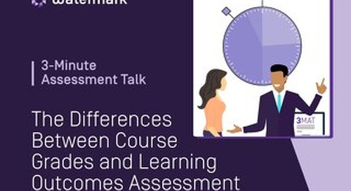 3-Minute Assessment Talk - The Difference Between Course Grades & Learning Outcomes Assessment