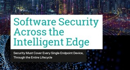 Software Security Across the Intelligent Edge