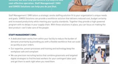 SMX and SIMOS Info Sheet: Your Products, Our People