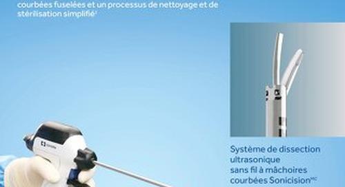 Système de dissection ultrasonique sans fil à mâchoires courbées Sonicision