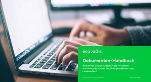 EcoVadis Dokumenten-Handbuch