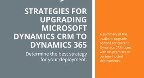 Strategies for Upgrading Microsoft Dynamics CRM to Dynamics 365