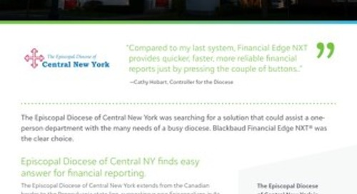 Episcopal Diocese of Central New York FENXT Customer Story