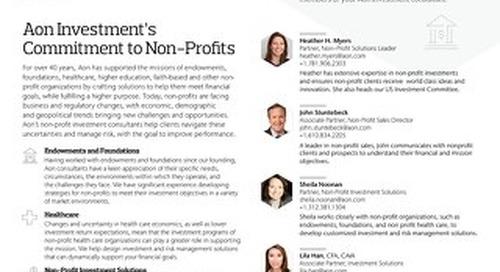 Aon's Non-Profit Solutions Team