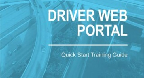 [Training Guide]  Driver Web Portal