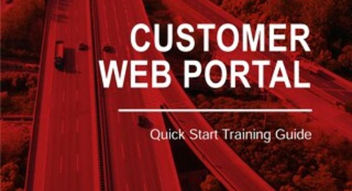 [Training Guide] Customer Web Portal